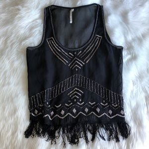 Willow & Clay • Sequin Fringe Tank